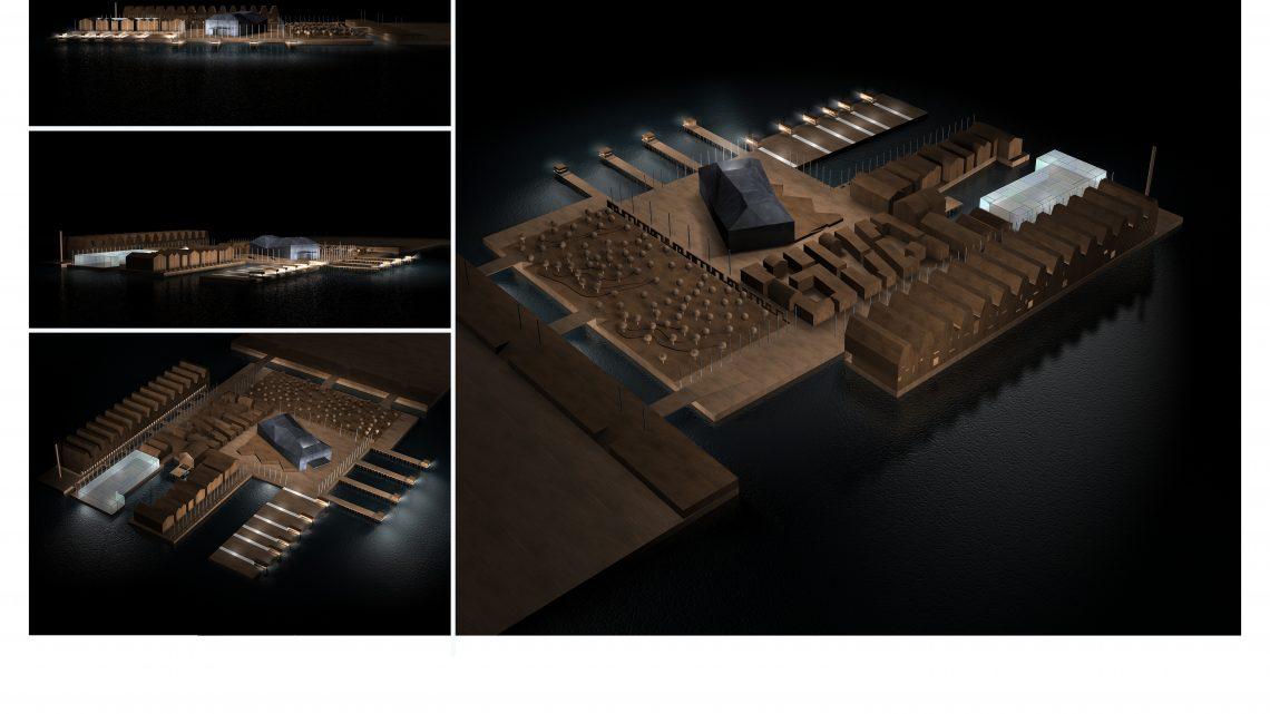 """2005 Concorso di Idee """"Casa della Musica"""" all'Isola del Tronchetto"""