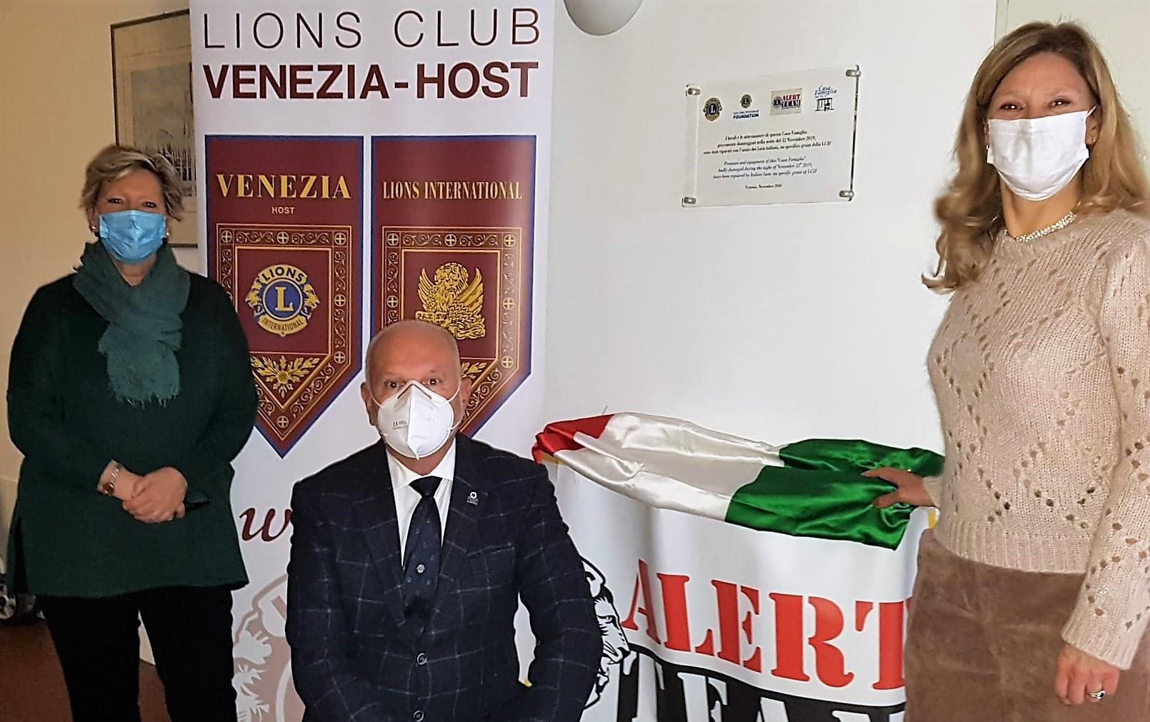 """13 novembre 2020 – LC Venezia Host – INIZIATIVA LIONS-ALERT PER """"CASA FAMIGLIA"""""""